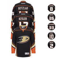 2015-16 Anaheim Ducks NHL Reebok Premier Home Black Jersey Collection Men's