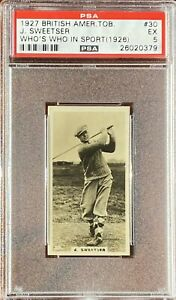 JESSE SWEETSER 1927 BAT Who's Who In Sports (1926) #30 PSA 5 EX Golf