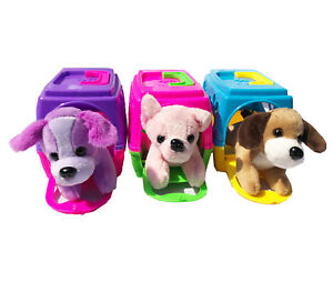 My Little Pet With Carry Case Puppy Carrier Soft Plush Dog Great Toy Asst Colors