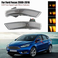Smoke Dynamic Sequential LED Turn Signal Light Mirror Indicator For Ford Focus