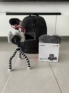 Canon Eos M50 + Rode Mikrofon + Rucksack VloggerKit