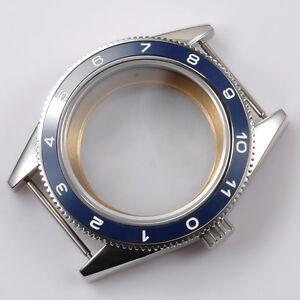 41mm Blue Watch Case Ceramic Bezel Sapphire crystal Fit ETA 2824/2836 Movement