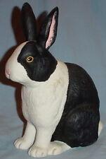 Dept 56 Black & White Sitting Bunny Rabbit Ceramic Easter Decor 1990