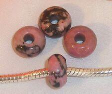 ♥ Halbedelsteinbead Bead Rhodonit European Gemstone ♥ PBE020