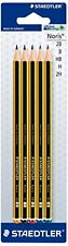 STAEDTLER NORIS DRAWING SKETCHING PENCILS [2H H HB B 2B = 1 of each grade]