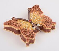 Faberge Butterfly trinket box hand made by Keren Kopal with Austrian crystal