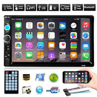 "7"" Car Stereo Radio MP5 Player 2 DIN Touch Screen FM USB Bluetooth w/Rear Camera"