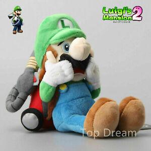 "Super Mario Luigi's Mansion Plush Luigi Soft Toy Stuffed Animal Doll Teddy 10"""