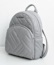 Michael Kors Rucksack/Tasche ABBEY MD Backpack Quilted Leather Ash Grey NEU
