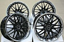 "ALLOY WHEELS 18"" CRUIZE 190 BP BLACK DIAMOND CUT LIP DEEP DISH 5X108 18 INCH"