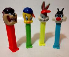 "PEZ dispensers 4"" 90s lot of 4 Looney Toons Bugs Bunny Tweety Bird Tasmanian"