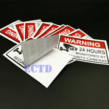 Warning Protected 24 Hour Security System Stickers Saftey Alarm Signs Decal 4PCS