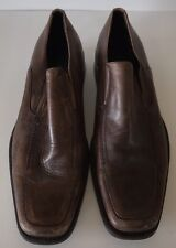 Men's Aldo Nygel Brown Leather Loafers Size 45
