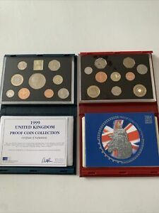 Royal Mint collectable proof coin collection 2004 And 1999