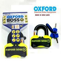 LK316 Oxford Boss Motorcycle Disc Lock Ultra Strong Motorbike Sold Secure 16mm