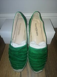 New Russell & Bromley Green Amalfi Suede Pumps Size EU 38 / UK 5