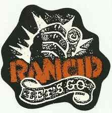 RANCID lets go RARE shaped CARD STICKER no longer made OOP