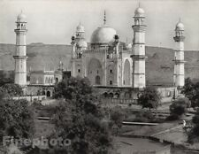 1928 Original INDIA Aurangabad Rabia Daurani Tomb Mausoleum Photo By HURLIMANN