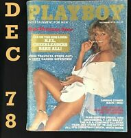 Playboy Magazine, December 1978 🐇 VERY GOOD Condition, John Travolta Interview