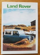 "Land Rover Series III SWB 88"" 4WD 4-Wheel Drive Postcard Vintage Ad Gallery MINT"