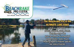 Beachrake PRO Lake Rake: Scoops Shells. Cuts Weeds. Skims Scum. Lightweight!