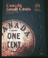 Whitman Canada Small One Cent Penny Folder Album Book 1920 - 1988