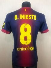 BARCELONA 2012/2013 INIESTA HOME FOOTBALL SOCCER JERSEY CAMISETA NIKE SIZE M