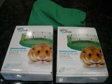 You & Me Run And Play Space Small Animal Exercise Playpen Hamster Gerbil Cage -2