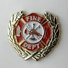 FIREFIGHTER FIRE DEPT SOLID WREATH LAPEL PIN BADGE 1 INCH