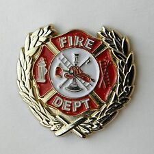 UNITED STATES FIREFIGHTER FIRE DEPT SOLID WREATH LAPEL PIN BADGE 1 INCH