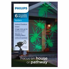 Philips 6ct Halloween Adjustable Lens Projector with LED Bulbs - Green Spiders