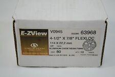 "Aluminum Oxide Resin Fibre 4-1/2"" x 7/8"" Flexloc Wheel 80 Grit Carborundum Abras"