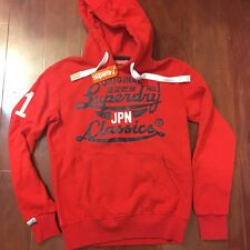 NEW SUPERDRY ICARUS DUO REWORK CLASSIC HOODIE REBEL RED MEN SIZE SMALL S
