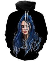 3D print Sexy Billie Eilish Casual Hoodie Women Men Sweatshirt Zipper Jacke