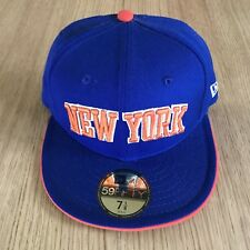 New Era New York Knicks Colourway 59Fifty Fitted Size 7 1/8 Blue Orange
