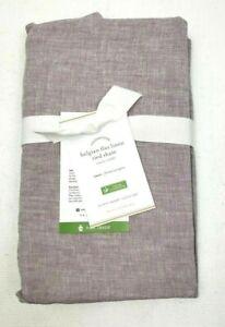New Pottery Barn Belgian Flax Linen Tie Pillow Sham Euro Square Lavender Purple