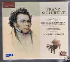 SCHUBERT BOX SET 6 CDS NEW COMPLETE PIANO SONATAS MICHAEL ENDRES