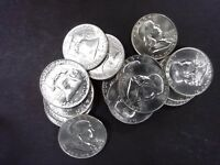 1958-D GEM BU FRANKLIN HALF DOLLAR - SINGLE COINS