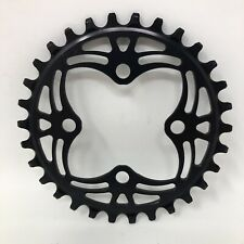 Absolute Black Round 64BCD Narrow-Wide 4x64bcd Round Chainring, 30T - Black