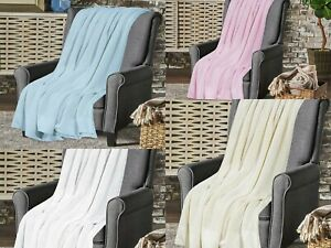 100% Pure Extra Soft Cotton Cellular Blankets