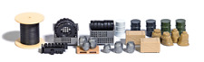 Busch 1632 2 Lattice boxes with industrial scrap HO OO Gauge