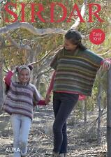 Sirdar 8002 Knitting Pattern Womens Girls Easy Knit Ponchos - Sirdar Aura Chunky