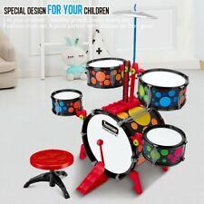 Children Kids Jazz Drum Set Kit Musical Educational Instrument Music Playing Toy