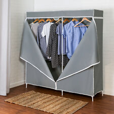 "Honey Can Do 60"" Steel Frame Wardrobe Closet System Shoes Jewelry Organizers"