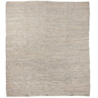 Extra Large Light Grey Leather Rug 250 x 300 cm by Ib Laursen