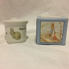 Wedgwood Beatrix Potter The World of Peter Rabbit Egg Cup Made in England w/Box