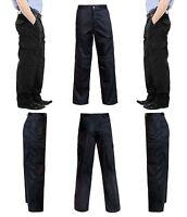 New Mens Black 6 Pockets Cargo Combat Trouser Workwear Fashion Workwear Trouser