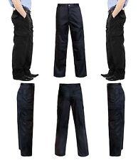 Negro de hombre 6 Bolsillos Cargo Militar Pantalones Ropa Trabajo Moderno