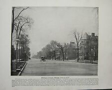 1898 PRINT + TEXT ~ MICHIGAN AVENUE CHICAGO LOOKING SOUTH