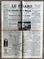 N121 La Une Du Journal Le Figaro 17 Mai 1940